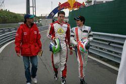 Roberto Moreno, Lucas Foresti en Pipo Derani