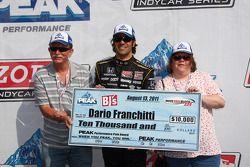 Le poleman Dario Franchitti, Target Chip Ganassi Racing