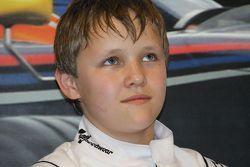 Lorenzo Stolk, winnaar van de Red Bull Kart Fight Under 15