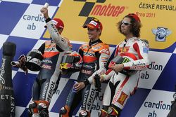 Podio: ganador de la carrera Casey Stoner, del equipo Repsol Honda, segundo lugar Andrea Dovizioso,