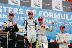 Winner Felix Rosenqvist, Mucke Motorsport, Dallara F308 Mercedes, Jimmy Eriksson, Motopark, Dallara
