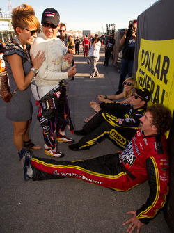 Alex Tagliani, Penske Racing Dodge with wife Bronte, Owen Kelly, Petty Motorsport Ford and Boris Said, Chevrolet