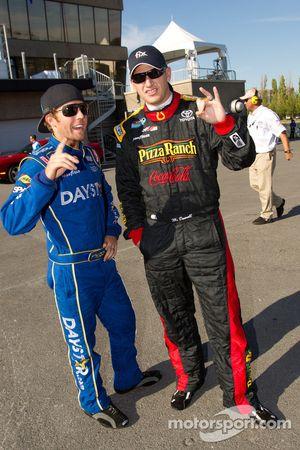 Blake Koch, Dodge and Michael McDowell, Joe Gibbs Racing Toyota