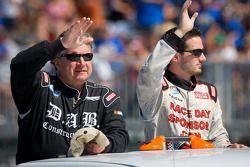 Joe Nemechek, Nemco Motorsport Toyota and Jeremy Clements, Chevrolet