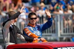 Josh Wise, Key Motorsports Chevrolet and Luis Martinez Jr., Roush-Fenway Ford
