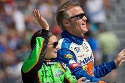 Danica Patrick, JR Motorsport Chevrolet and Kenny Wallace, Benton Toyota