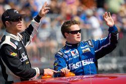 Brian Scott, Joe Gibbs Racing Toyota and Ricky Stenhouse Jr., Roush-Fenway Ford