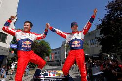Les vainqueurs Sébastien Ogier et Julien Ingrassia, Citroën DS3 WRC, Citroën Total World Rally Team
