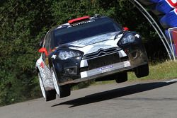 Kimi Raikkonen et Kaj Lindström, Citroën DS3 WRC, ICE 1 Racing