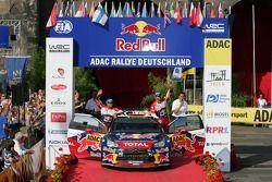 Podium: 2de Sébastien Loeb en Daniel Elena, Citroën DS3 WRC, Citroën Total World Rally Team