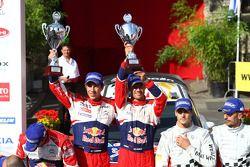 Podium: winners Sébastien Ogier and Julien Ingrassia, Citroën DS3 WRC, Citroën Total World Rally Tea