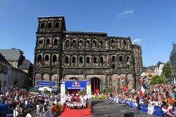 Podium: winners Sébastien Ogier and Julien Ingrassia, Citroën DS3 WRC, Citroën Total World Rally Team