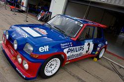 Klassieke Renault rallywagen