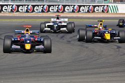 Daniel Ricciardo and Jean-Eric Vergne battle