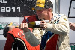 DP podium: champagne for David Donohue