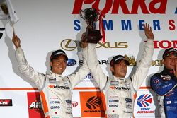 GT300 class podium: second place Masami Kageyama, Tomonobu Fujii