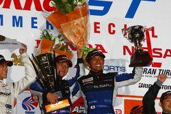 GT300 class podium: winners Tetsuya Yamano, Kota Sasaki