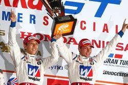 GT500 class podium: winners Takashi Kogure, Loic Duval