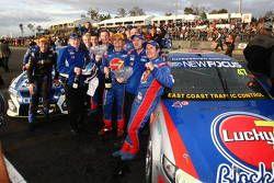 Shane van Gisbergen, #9 SP Tools Racing, Tim Slade, #47 Lucky 7 Racing