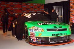 Danica Patrick and Go Daddy CEO Bob Parsons unveil the #7 GoDaddy.com Chevrolet