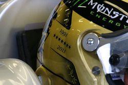 Detalles del casco de Michael Schumacher, Mercedes GP