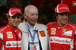 Felipe Massa, Scuderia Ferrari, John Surtees and Fernando Alonso, Scuderia Ferrari