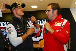 Michael Schumacher, Mercedes GP F1 Team celebra su primer coche de F1 en Spa 20 años, General de Fer