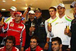 Michael Schumacher, Mercedes GP F1 Team celebra su primera conducción de un F1en Spa 20 años