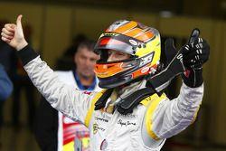Romain Grosjean festeggia il titolo 2011 della GP2