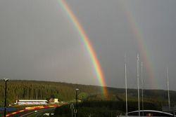 Arco iris sobre Spa-Francorchamps
