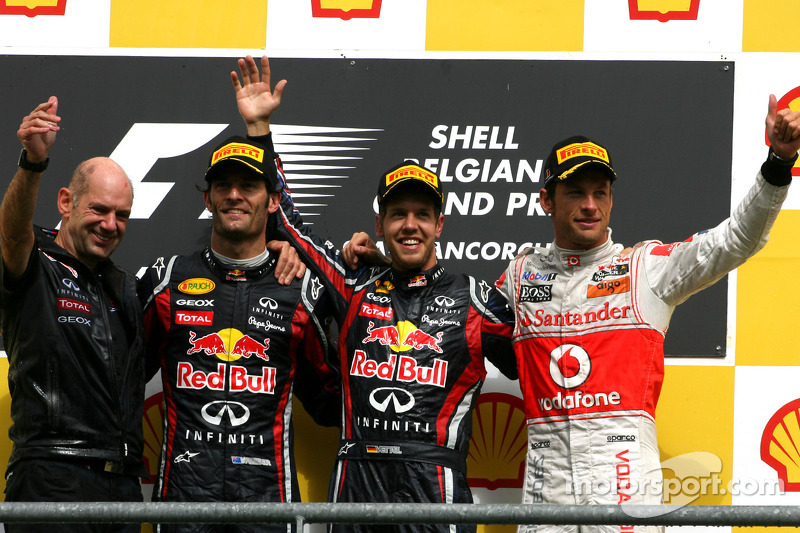 2011: 1. Sebastian Vettel, 2. Mark Webber, 3. Jenson Button