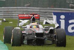 Lewis Hamilton, McLaren Mercedes choque