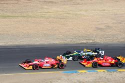 Marco Andretti, Andretti Autosport, Takuma Sato, KV Racing Technology-Lotus and Martin Plowman, AFS/