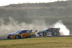 V8 Supercar driver Will Davison and Ken Block take to the track in each others car
