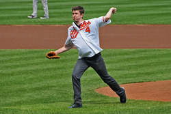 Baltimore Orioles ceremonial pitch by J.R. Hildebrand