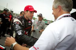 Pole winner Will Power, Team Penske celebrates