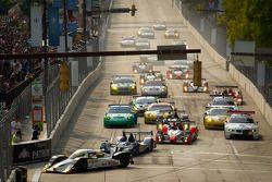 Start: #20 Oryx Dyson Racing Lola B09/86 Mazda: Humaid Al Masaood, Steven Kane