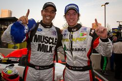 LMPC race winners Tomy Drissi and Kyle Marcelli