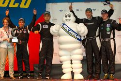 Michelin Green X podium: Prototype winners Humaid Al Masaood and Steven Kane