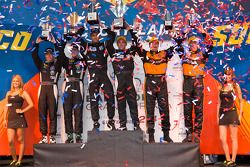 LMP1 podium: class and overall winners Humaid Al Masaood and Steven Kane, second place Chris Dyson a