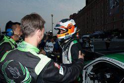 Jeroen Bleekemolen is congratulated on his GTC Class win