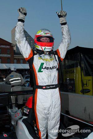 Kyle Marcelli celebrates his LMPC class win