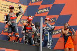 Dani Pedrosa, Repsol Honda Team, Jorge Lorenzo, Yamaha Factory Racing y Casey Stoner, Repsol Honda T