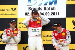 Martin Tomczyk, Audi Sport Team Phoenix and Edoardo Mortara, Audi Sport Team Rosberg and Mattias Ekström, Audi Sport Team Abt