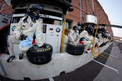 BMW Motorsport team members ready for a pit stop