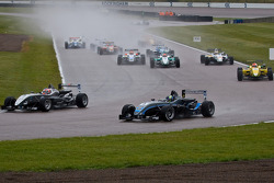 Kevin Magnussen and Scott Pye battle for the lead