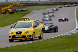 The Safetycar leads the pack