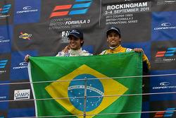 Podium from left: Pietro Fantin and Felipe Nasr