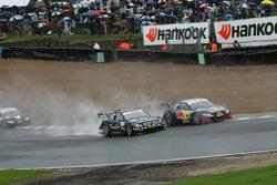 Mattias Ekström, Audi Sport Team Abt Sportsline, Audi A4 DTM; Gary Paffett, Team HWA AMG Mercedes, A