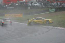 Mike Rockenfeller, Audi Sport Team Abt Sportsline, Audi A4 DTM crashes